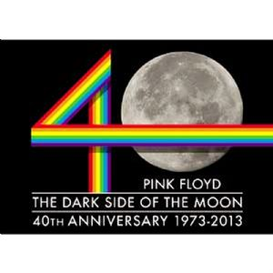 Pink Floyd DSOTM 40th Anniv. moon steel fridge magnet (cv)